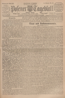 Posener Tageblatt (Posener Warte). Jg.64, Nr. 121 (27 Mai 1925) + dod.