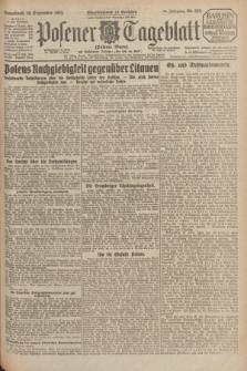 Posener Tageblatt (Posener Warte). Jg.64, Nr. 222 (26 September 1925) + dod.