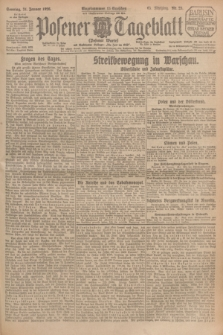 Posener Tageblatt (Posener Warte). Jg.65, Nr. 25 (31 Januar 1926) + dod.
