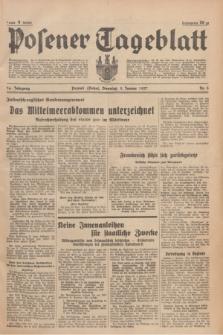 Posener Tageblatt. Jg.76, Nr. 3 (5 Januar 1937) + dod.