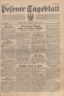 Posener Tageblatt. Jg.76, Nr. 14 (19 Januar 1937) + dod.