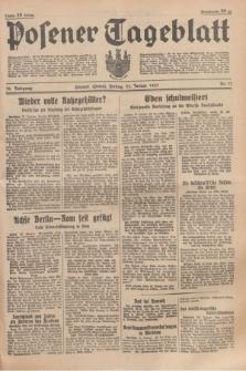 Posener Tageblatt. Jg.76, Nr. 17 (22 Januar 1937) + dod.