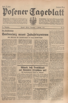 Posener Tageblatt. Jg.76, Nr. 31 (9 Februar 1937) + dod.