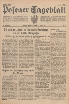 Posener Tageblatt. Jg.76, Nr. 54 (7 März 1937) + dod.
