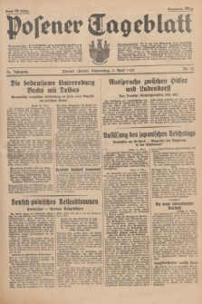Posener Tageblatt. Jg.76, Nr. 73 (1 April 1937) + dod.