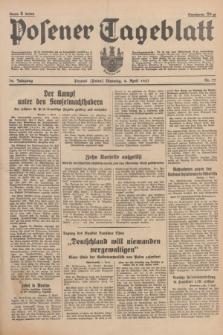 Posener Tageblatt. Jg.76, Nr. 77 (6 April 1937) + dod.