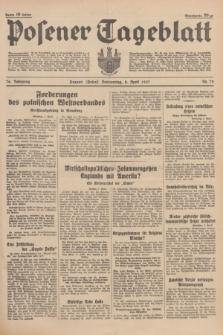 Posener Tageblatt. Jg.76, Nr. 79 (8 April 1937) + dod.