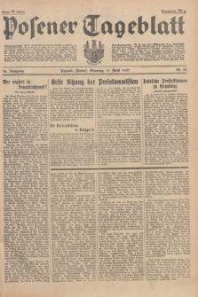 Posener Tageblatt. Jg.76, Nr. 82 (11 April 1937) + dod.