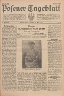 Posener Tageblatt. Jg.76, Nr. 89 (20 April 1937) + dod.