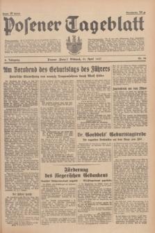 Posener Tageblatt. Jg.76, Nr. 90 (21 April 1937) + dod.