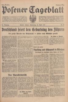 Posener Tageblatt. Jg.76, Nr. 91 (22 April 1937) + dod.