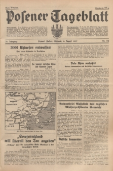 Posener Tageblatt. Jg.76, Nr. 175 (4 August 1937) + dod.