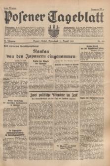 Posener Tageblatt. Jg.76, Nr. 184 (14 August 1937) + dod.