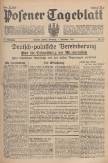 Posener Tageblatt. Jg.76, Nr. 256 (7 November 1937) + dod.
