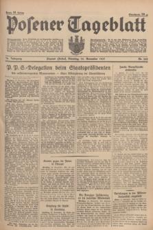 Posener Tageblatt. Jg.76, Nr. 262 (16 November 1937) + dod.