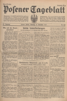 Posener Tageblatt. Jg.76, Nr. 268 (23 November 1937) + dod.