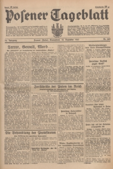 Posener Tageblatt. Jg.76, Nr. 289 (18 Dezember 1937) + dod.