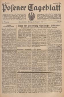 Posener Tageblatt. Jg.76, Nr. 290 (19 Dezember 1937) + dod.