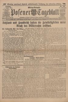 Posener Tageblatt. Jg.53, Nr. 360 (4 August 1914)