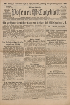 Posener Tageblatt. Jg.53, Nr. 372 (11 August 1914)