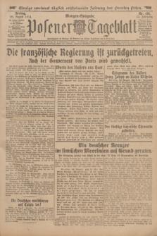 Posener Tageblatt. Jg.53, Nr. 401 (28 August 1914) + dod.