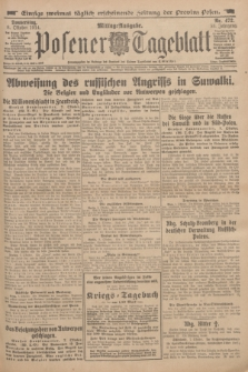 Posener Tageblatt. Jg.53, Nr. 472 (8 Oktober 1914)