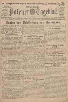 Posener Tageblatt. Jg.53, Nr. 473 (9 Oktober 1914) + dod.