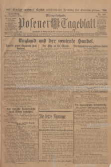 Posener Tageblatt. Jg.53, Nr. 610 (31 Dezember 1914)