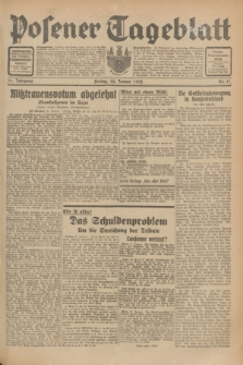 Posener Tageblatt. Jg.71, Nr. 17 (22 Januar 1932) + dod.