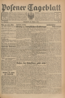 Posener Tageblatt. Jg.71, Nr. 18 (23 Januar 1932) + dod.