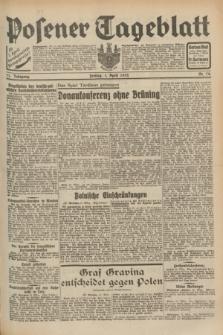 Posener Tageblatt. Jg.71, Nr. 74 (1 April 1932) + dod.