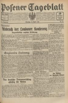 Posener Tageblatt. Jg.71, Nr. 82 (10 April 1932) + dod.