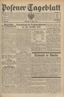 Posener Tageblatt. Jg.71, Nr. 84 (13 April 1932) + dod.