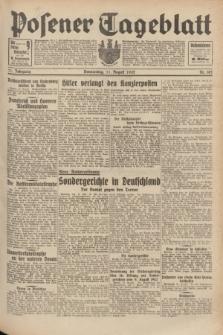 Posener Tageblatt. Jg.71, Nr. 182 (11 August 1932) + dod.