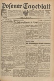 Posener Tageblatt. Jg.71, Nr. 183 (12 August 1932) + dod.