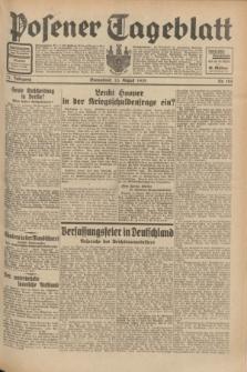 Posener Tageblatt. Jg.71, Nr. 184 (13 August 1932) + dod.