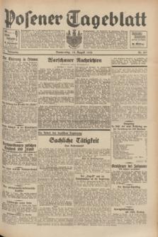Posener Tageblatt. Jg.71, Nr. 187 (18 August 1932) + dod.