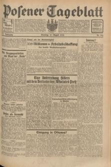 Posener Tageblatt. Jg.71, Nr. 190 (21 August 1932) + dod.