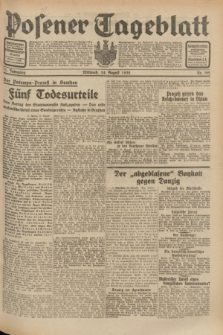 Posener Tageblatt. Jg.71, Nr. 192 (24 August 1932) + dod.