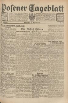 Posener Tageblatt. Jg.71, Nr. 193 (25 August 1932) + dod.