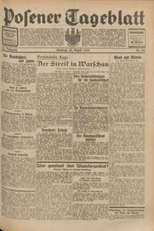 Posener Tageblatt. Jg.71, Nr. 196 (28 August 1932) + dod.