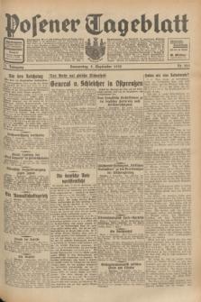 Posener Tageblatt. Jg.71, Nr. 205 (8 September 1932) + dod.