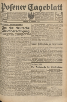 Posener Tageblatt. Jg.71, Nr. 208 (11 September 1932) + dod.