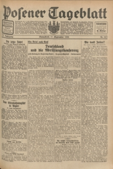 Posener Tageblatt. Jg.71, Nr. 213 (17 September 1932) + dod.