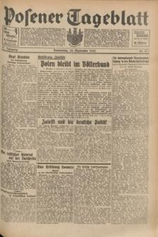 Posener Tageblatt. Jg.71, Nr. 217 (22 September 1932) + dod.