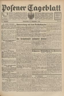 Posener Tageblatt. Jg.71, Nr. 223 (29 September 1932) + dod.