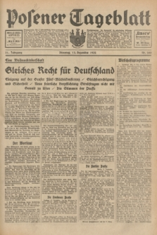 Posener Tageblatt. Jg.71, Nr. 285 (13 Dezember 1932) + dod.