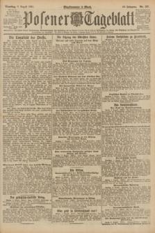 Posener Tageblatt. Jg.60, Nr. 137 (9 August 1921)