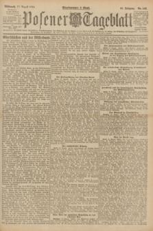 Posener Tageblatt. Jg.60, Nr. 143 (17 August 1921)