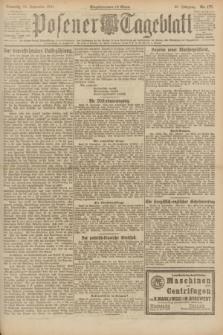 Posener Tageblatt. Jg.60, Nr. 177 (25 September 1921) + dod.